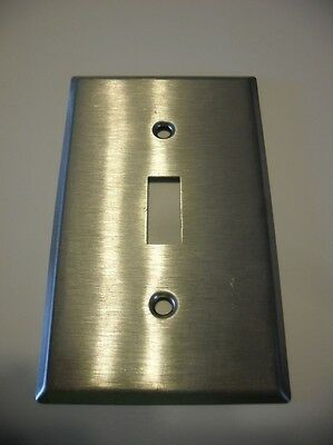 One Satin / Brushed CHROME Plated Steel Single Switch Wall COVER Plate