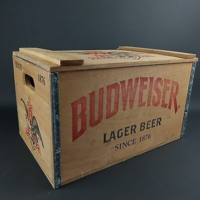 Budweiser Limited Edition Lager Beer Wood Wooden Crate Box Since 1876