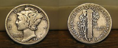 1929-D Mercury Winged Liberty Silver Dime 1929D Us Coin