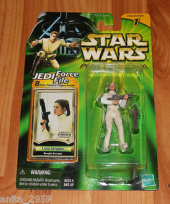 Star Wars Power of the Jedi PRNICESS LEIA ORGANA Force File FIGURE Mint On Card