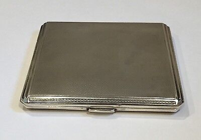 Antique Birmingham Sterling Silver Cigarette Case by Padgett & Braham Ltd