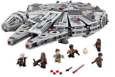 Star Wars Millennium Falcon + Minifigures Lego Compatible (In Sealed Box)