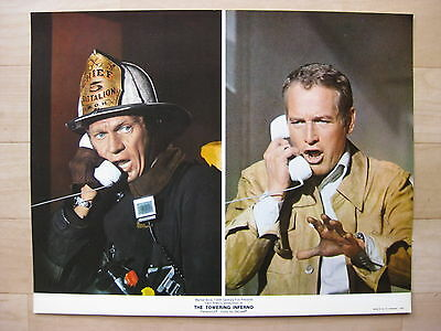 THE TOWERING INFERNO 1974 Rare lobby card set Steve McQueen Paul Newman disaster