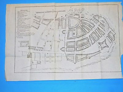 1695 ORIGINAL ANTIQUE  MAP NEW YORK CITY  from VALENTINES HISTORY OF NYC 1853