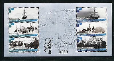 Ross Dependency 2015 Ships, Arctic Expedition, Limited Numbered Souvenir Sheet
