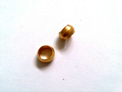 Ф6mm Hole Diameter Brass Olive Barrel Compression Sleeve Ferrule Ring 2pcs