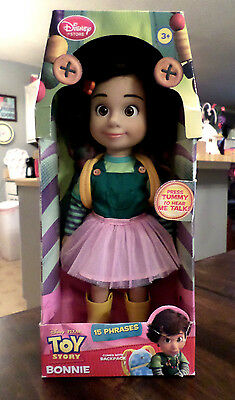"""Rare Toy Story  Bonnie 12"""" Talking Doll Disney Store UK Exclusive"""