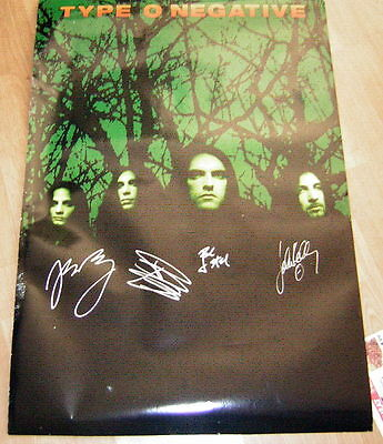 Type O Negative Signed Promo Poster October Rust Peter Steele 1996
