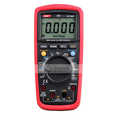 UNI-T UT139C True RMS Digital Multimeter Ammeter Multimetro Auto/Manual Range