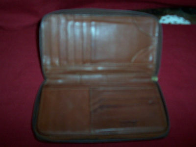 Longaberger ~ LEATHER ZIP CLUTCH WALLET!   A+ COND!   BUY IT NOW!   SALE PRICE!!