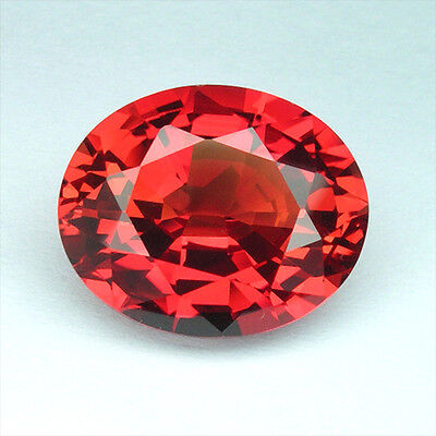 12.65cts. AWESOME FIRE ORANGE RED SAPPHIRE OVAL LOOSE GEMSTONE