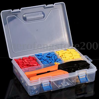 900Pcs Electrical Assorted Insulated Crimp Wire Connector & Crimping Plier Set