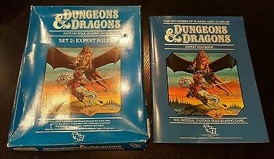 Dungeons & Dragons Set 2: Expert Rules Role Playing Game TSR 1012 (1 book & box)