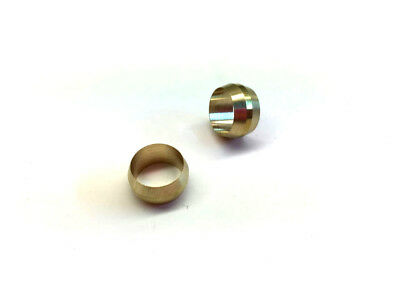 Ф10mm Hole Diameter Brass Olive Barrel Compression Sleeve Ferrule Ring 2pcs