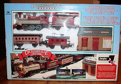 Dickensville Express Christmas Train Set Battery Operated - New Bright
