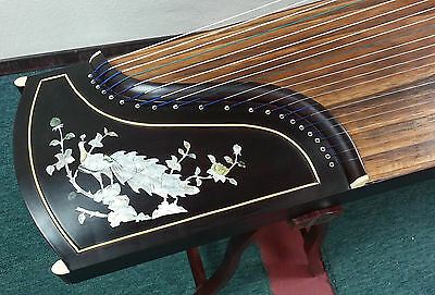 Beautiful Guzheng Chinese Zither Harp Koto 21-String Mother of Pearl Inlay
