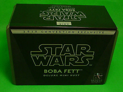 Star Wars Boba Fett EXCLUSIVE 2013 Deluxe SDCC mini bust Gentle Giant figure
