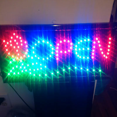 Led Animated Light Flashing Open Business Sign For Store / Shop - Brand New!