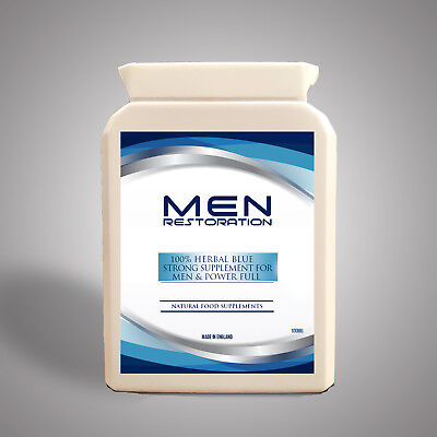 50 X Original Herbal Blue Male Sex Aid For Men Good Quality On Line Stay Strong