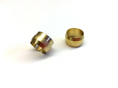 Ф12mm ID Brass Olive Barrel Compression Sleeve Ferrule Ring Soft Copper 2pcs