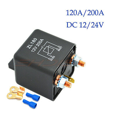 12V 200Amp 4-Pins Relay Heavy Duty Split Charge Relay For Car Truck Marine 1Pc