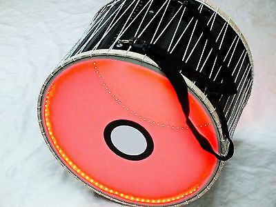 "21 "" Turkish  Percussion  Plastic Hydraulic Drum Davul W/ Red Light New"