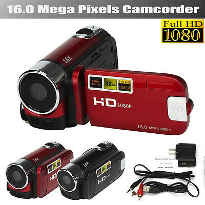 1PC HD 1080P TFT LCD 16M 16X Digital Zoom CMOS Video Camcorder Camera DV Cam