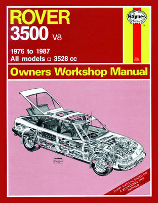 Rover 3500 V8 SD1 Workshop Manual 1976 - 1987 *NEW
