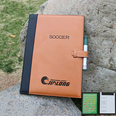 Folder Magnetic Soccer Coaching Board Erase Clipboard Tactical Brown 24*32 cm