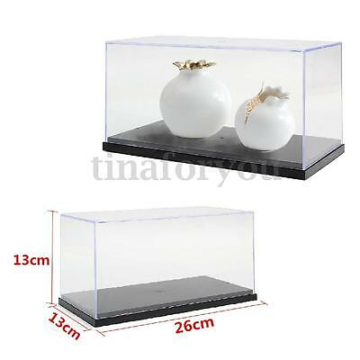 Clear Acrylic Display Show Box Case Protection Toys Dustproof Big 26x13x13cm 10""
