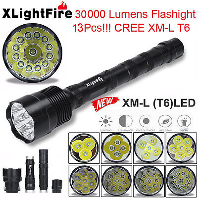 XLightFire Super Bright 30000Lm XM-L T6 LED 5-Mode 18650 Flashlight Torch Lamp