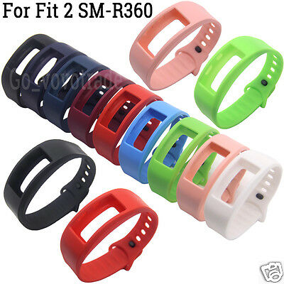 Soft Silicone Replacement Wrist Watch Band Strap For Samsung Gear Fit 2 SM-R360