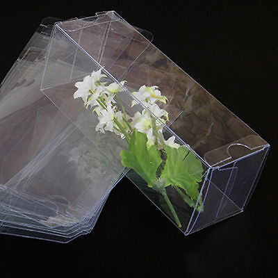 Plastic Gift Favor Box Wedding Party Clear PVC Box Candy Chocolate Packaging Box