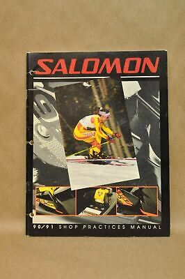 Vtg 1990-1991 Salomon Binding Boot Maintenance Repair Shop Technical Manual
