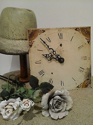Original Antique French Comtoise/Mora Long Case Clock Face~Decor Floral Repousse