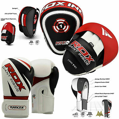 RDX Boxing Pads and Gloves Set Muay Thai Focus Punch Mitts Hook & Jab Training
