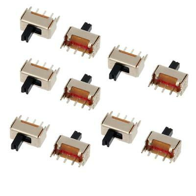 10Pcs 2 Position SPDT 1P2T 3pin Mini Micro Vertical Slide Switch
