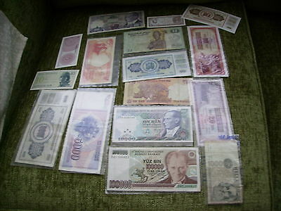 Different  Bank Note`s 16 In Total  (  Bargain )