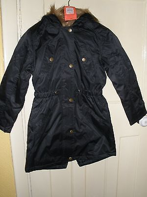 BHS Child's Black Parka Aged 7-8 yrs