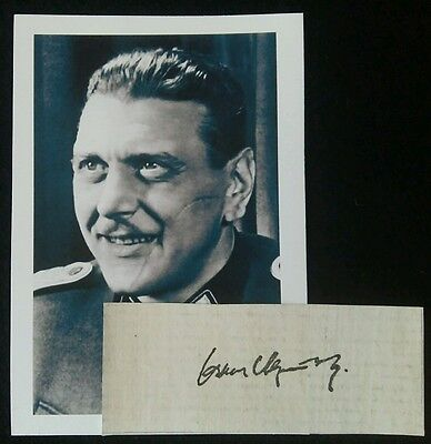Otto Skorzeny Autograph Clipping And Photograph