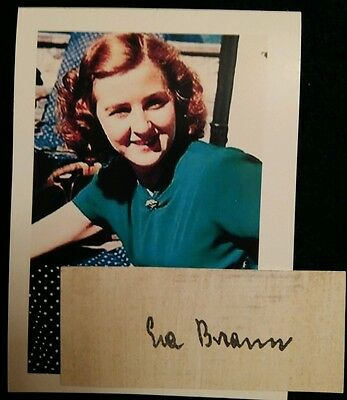 Eva Braun Autograph Clipping And Photograph