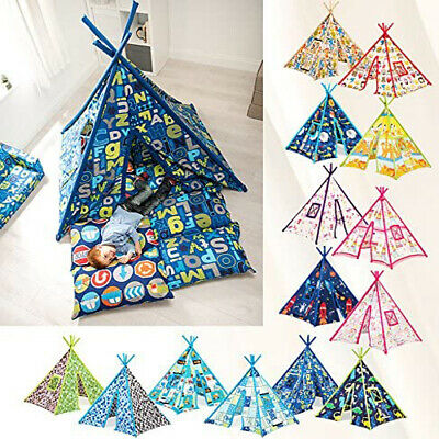 Large Children's Fabric Play Tent Teepee Wigwam Garden Kids Indoor Den House