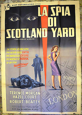 MANIFESTO ORIGINALE LA SPIA DI SCOTLAND YARD 59 The Shake Down HAZEL COURT