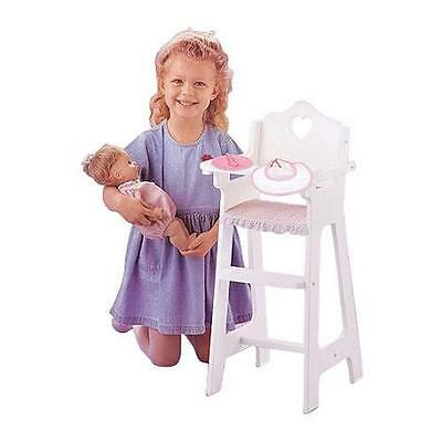 "Badger Basket Doll High Chair With Feeding Accessories - Fits Most 18"" Dolls"