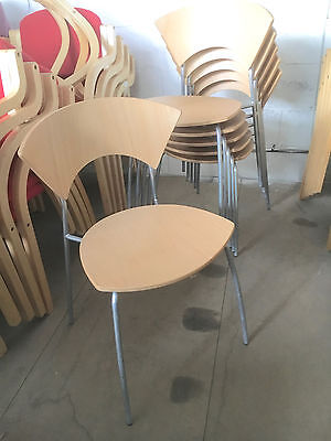Allermuir Scala Chair [Stackable Meeting Visitor Chairs] Wooden Canteen Seating
