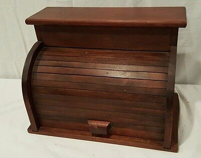 Wooden bread box antique country stylish