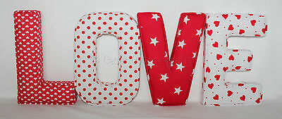 Fabric letters nursery,home, love personalised childrens Wall Art,padded