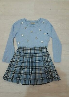 Next Skirt and Top blue 5-6 years