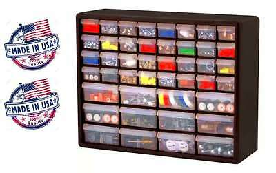 Hardware Storage Craft Art Cabinet Parts Plastic Drawer Nuts Bolts Tool Box NEW