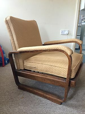 Art Deco Bent Wood Chair Jundrich Halabala Style